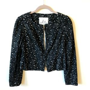 Milly Eyelet Floral Jacket Fully Lined Size 4